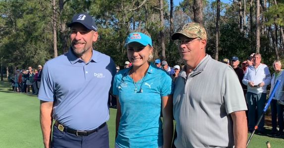 LPGA star Lexi Thompson had to Google playing partners Greg Maddux and John Smoltz