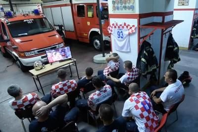 Watch: Croatian fire department pretends to report to fire during World Cup game