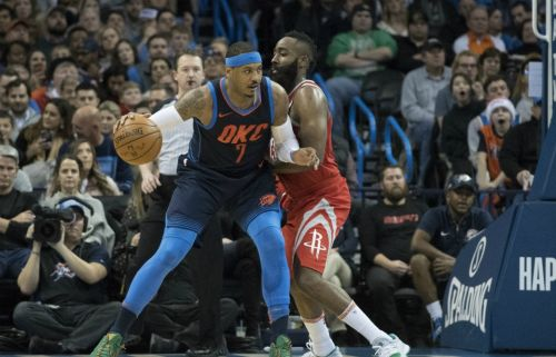 Report: Rockets Emerge as 'Strong Frontrunners' To Get Carmelo Anthony