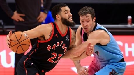 Raptors' 3-game win streak snapped by short-handed Heat