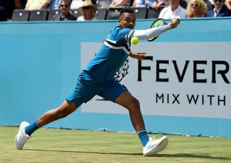 Sock-A-Bye Baby as Kyrgios forgets footwear before first-round win