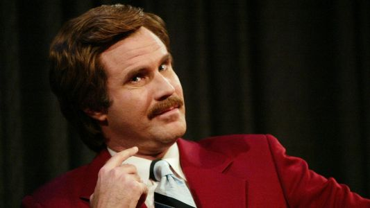 WATCH: Ron Burgundy drops by LA Kings broadcast booth, kisses burrito