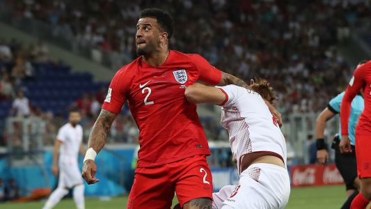 'He ran into my arm' - Walker disappointed with penalty decision after England win