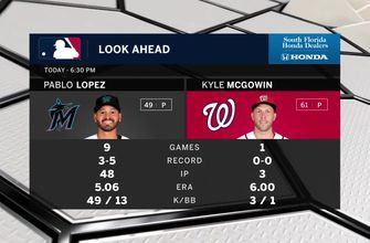 Pablo López gets the start as Marlins aim for 7th straight victory