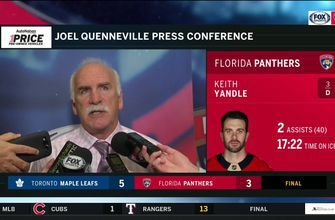 Joel Quenneville breaks down Panthers' loss to Atlantic-Division rival Maple Leafs