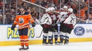 Avalanche have no trouble in victory over Oilers
