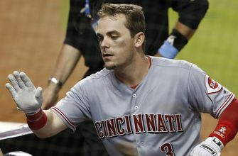 Reed wins in 1st major league start, Reds top Marlins 4-2