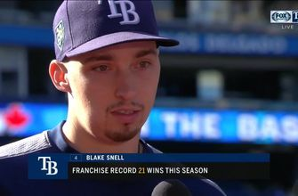 Blake Snell on 21st win: 'It's all of us that did that'