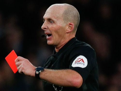 Which referee has red carded the most players in Premier League history?