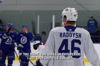 Mic'd Up: Taylor Raddysh gets legs burning, takes on some challenges at Lightning dev camp