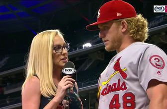 Bader on clutch homer: 'Not really looking for anything besides in your hot zone'