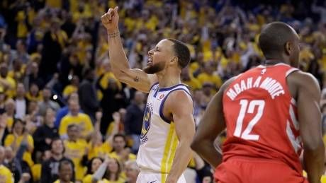 Warriors spank Rockets to inch closer to Finals once again