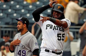 Pirates close out Rockies with three seventh-inning homers