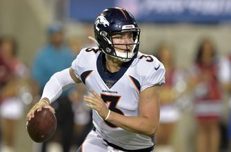 Drew Lock brings swag if not stats to Denver Broncos