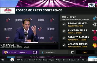 Erik Spoelstra discusses facing LeBron James, loss to Lakers