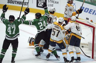 Stars tie NHL power-play record in 3-2 win over Predators