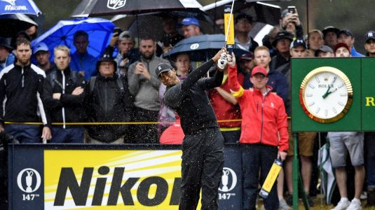 Tiger's Round 2 included shot right into gallery