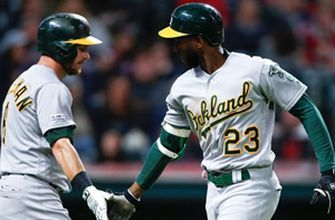 Jurickson Profar smokes line drive home run to lead A's past Indians