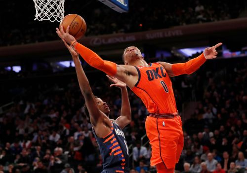 George, Westbrook lead Thunder over Knicks 127-109