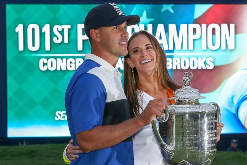 PGA Championship: Jena Sims got her Brooks Koepka kiss - then the real celebration began
