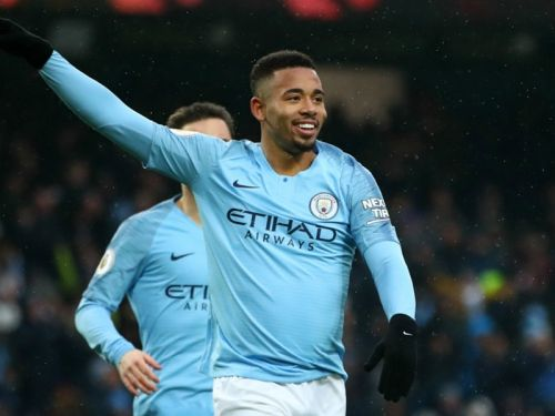 Manchester City 3 Everton 1: Jesus at the double as City go top