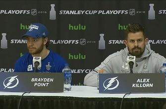 Brayden Point, Alex Killorn discuss game-winning goal, win over Capitals