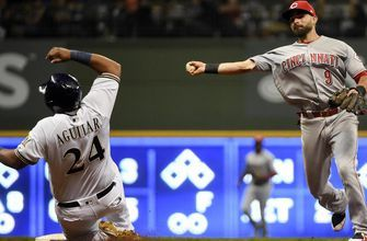 Reds attack early, Brewers lose 3-1