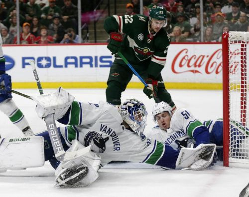 Down to their fourth-string goalie, Canucks get blown out on the road in Minnesota