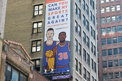 Warriors had a good laugh at the Kevin Durant-to-Knicks billboard