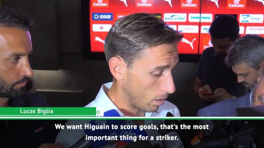We all want Higuain to score - Biglia