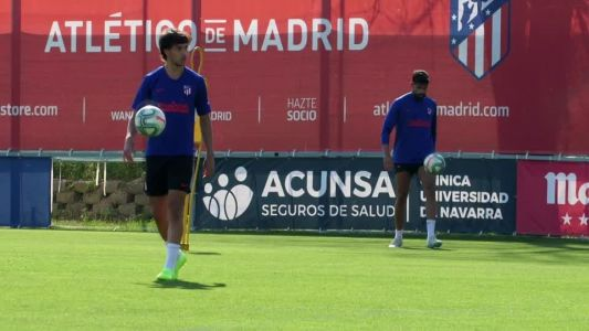 Atletico's Felix hurts knee in training