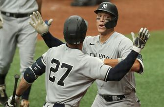 Cole strikes out 10, Judge & Stanton both homer in Yankees 8-4 win over Rays