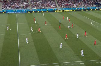 Foul leads to a penalty kick for Tunisia
