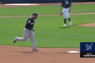 WATCH: Pina goes yard in Brewers' win over Padres