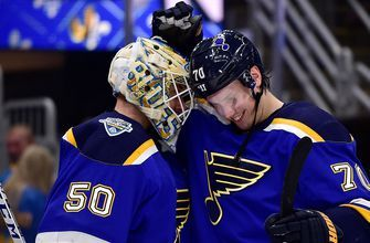 Oskar Sundqvist on return to Blues' lineup: 'I'm really happy to be back'