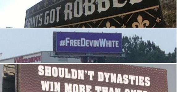 Saints fan's Atlanta billboard the latest in a Louisiana tradition