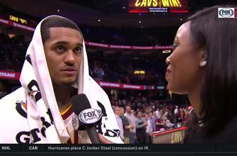 Jordan Clarkson helps push the pace in the Cavs' win over the Knicks