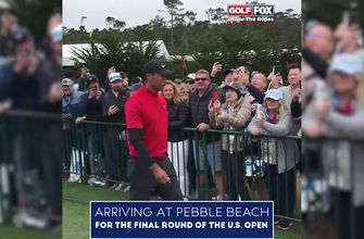 Inside the Ropes: Watch Tiger Woods, Dustin Johnson and Rickie Fowler arrive at Pebble Beach for the final round of the 2019 U.S. Open