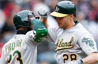 Matt Olson's solo homer helps A's edge Indians