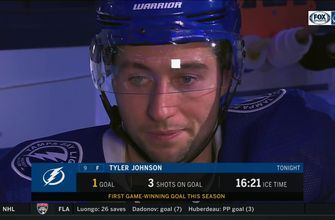 Tyler Johnson on his game-winning goal and Military Appreciation Night