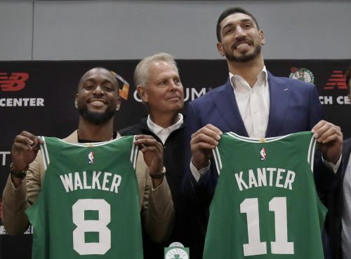 New Celtics Walker and Kanter take playful jabs at Irving