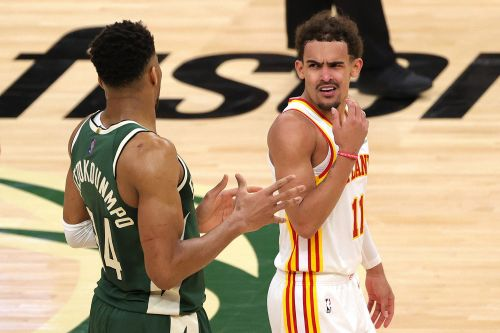 Trae Young's villain origin story continues with shoulder shimmy