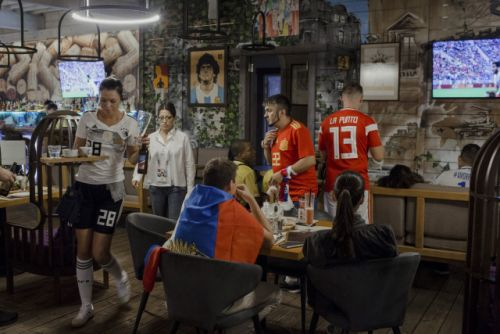 World Cup fans flock to popular pub in Sochi - in the very same building Russia carried out its notorious doping scheme