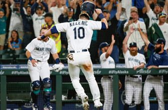 Mariners win on walk-off wild pitch as Mitch Haniger has monster night