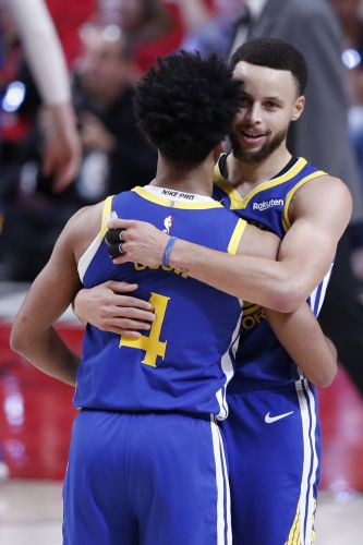 Warriors complete sweep of Trail Blazers to advance to NBA Finals for fifth straight year