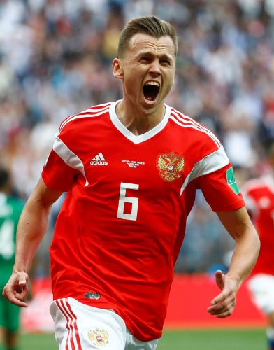 Russia routs Saudi Arabia 5-0 in opening game of World Cup