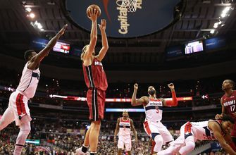 Kelly Olynyk's last-second putback lifts Heat to 113-12 win over Wizards