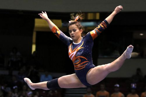 Auburn gymnast Sam Cerio walks down aisle two months after gruesome viral injury