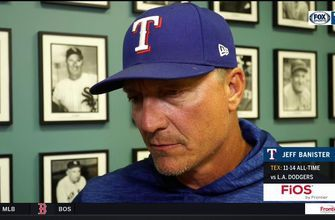 Jeff Banister likes what he from Rangers in loss against Dodgers