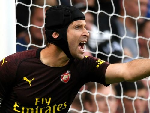 Don't let a couple of mistakes fool you, Arsenal goalkeeper Cech is adapting well to Emery's demands